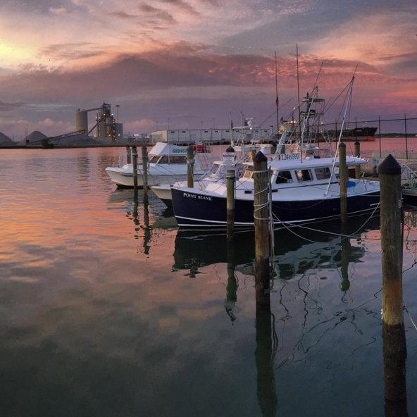 Sunrise marina in Port Canaveral Florida