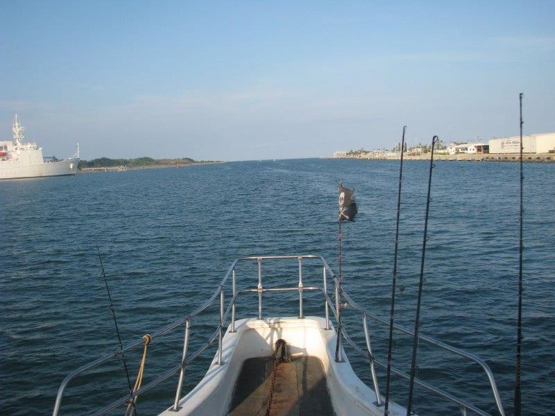 deep sea fishing boat bow