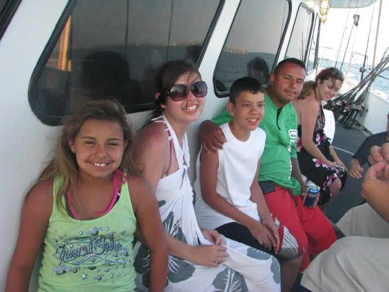 family fishing trip deep sea