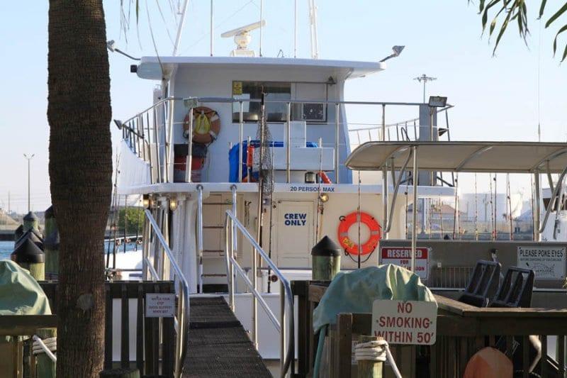 charter fishing boat dock