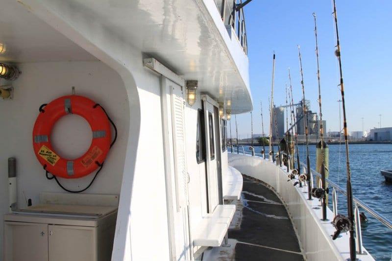 deep sea fishing boat deck