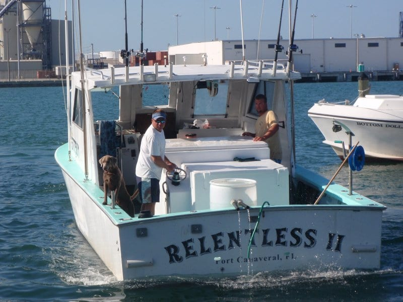 relentless charter fishing boat